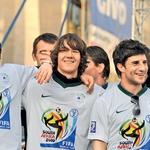 Dobrodošlica našim nogometnim junakom! (foto: Goran Antley, Primož Predalič)