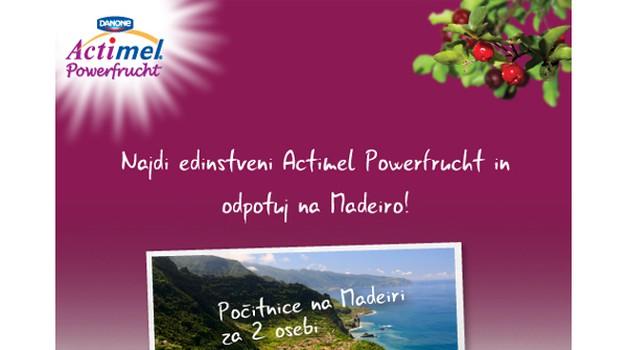 Zaužij dan z napitkom Actimel Powerfrucht in odpotuj na Madeiro (foto: promocija)
