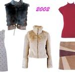 Leto 2002  Usnje, krzneni dodatki in polpuliji so nas navduševali v letu 2002, ravno ti trendi pa so zelo 'in' tudi letos, zato jih  le potegni iz omare. (foto: arhiv Cosmopolitana, Shutterstock)