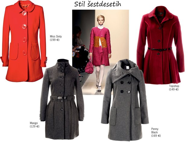 Plašči v stilu šestdesetih (foto: All about fashion, Aleksander Štokelj, promocijski material)