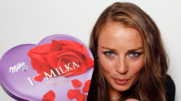 Milkine čudovite nove stilizirane smuči so oddane! (foto: Milka press)