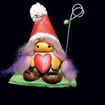 Ljubezen na vidnem mestu: Svojo najbolj zaljubljeno fotografijo lahko razstaviš na vidnem mestu tako, da uporabiš držalo Daše Perko. Njena prikupna Valentinčica z volnenimi laski bo čudovito krasila dom zaljubljenega parčka. Še več na na Facebook strani Dašin Mali Svet. (foto: osebni arhiv ustvarjalk, Petra Cvelbar)