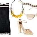 Top kombinacija: Obleka, 2nd Chance (135 €), verižica, Max Mara (35 €), zapestnica, 2nd Chance (25 €), sončna očala, Tom Ford (120 €) in sandale, Chloe (150 €)