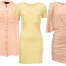 Bluza, Dorothy Perkins (44 €), obleka, Topshop (68 €) in obleka, Pinko (287 €)