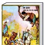 Bistroumni plemič Don Kihot iz Manče, Miguel de Cervantes. Don Kihota, prvi evropski (novi vek) roman, je napisal španec Cervantes, in sicer leta 1605 (drugi del 1615) v želji, da bi obogatel in postal slaven. Uresničilo se mu je drugo, saj je roman preveden v vse svetovne jezike in se že več kot 400 let odlično prodaja ter bere. Don Kihotov viteški boj z mlini na veter sta v slovenščino najbolje privedla Stanko Leben leta 1935 in Niko Košir leta 1973. PRODANO: približno 500 milijonov. (foto: Lisa)