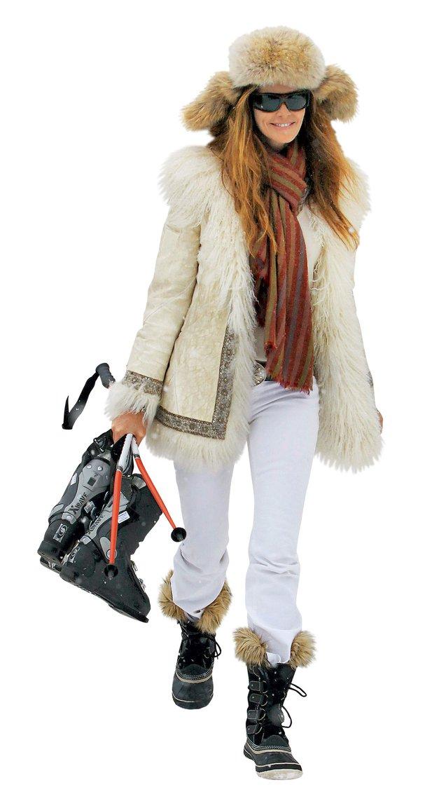 Manekenka Elle Manpherson ni samo stilska ikona, ampak tudi odlična smučarka. (foto: Alex Štokelj, Profimedia, promocijsko gradivo)