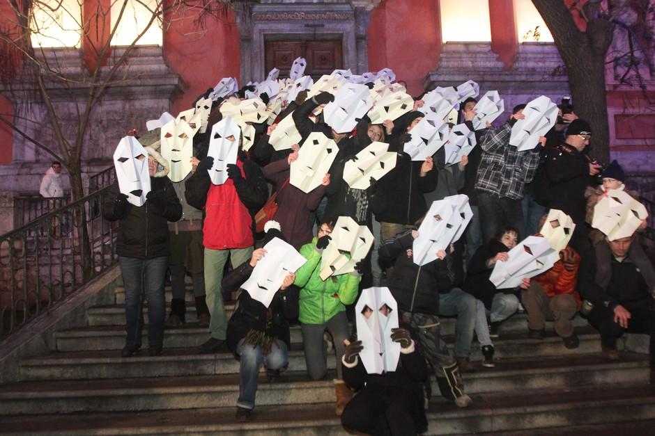 Foto utrinki z ljubljanskega Protestivala (foto: Goran Antley)