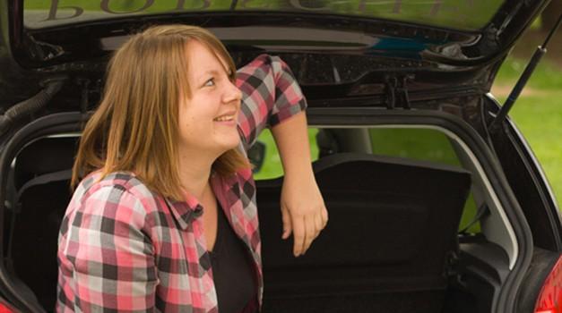 Pa sem se spakirala v avto!  (foto: jernej gracner)
