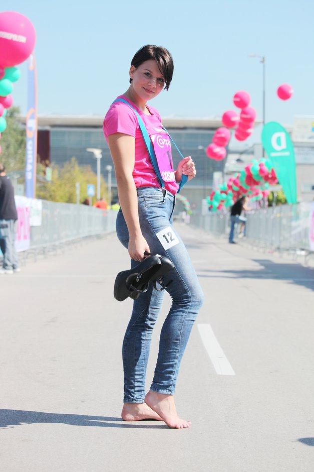 Samanta Vegelj - zmagovalka pozira kot prava zvezda! (foto: Aleš Pavletič)