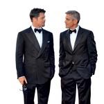 Brad Pitt in George Clooney  Dva najbolj zaželena žrebca Holivuda imata pogosto oči le drug za drugega.  (foto: profimedia)