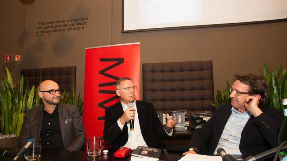 Branimir Brkljač, Ivan Stanković in Marjan Novak, direktor in urednik Marketing magazina (foto: AML arhiv)