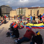 Z madridskih ulic v podporo protestnikom v Venezueli (foto: Kaja Antlej)