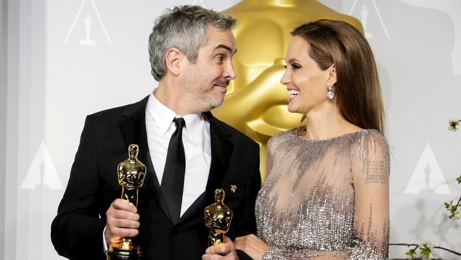 Snovalci filma Gravitacija so bili to noč najbolj nasmejani. (foto: profimedia)