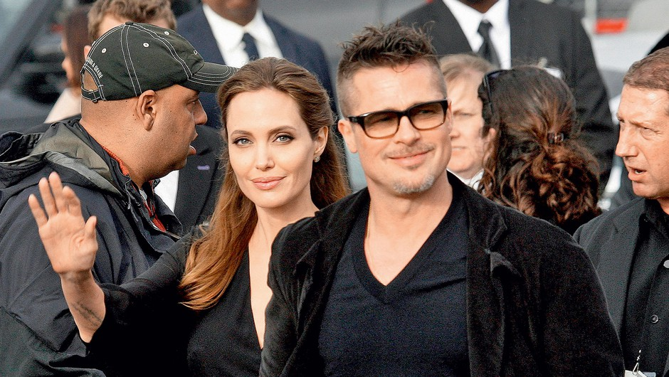 Angelina Jolie in Brad Pitt (foto: Profimedia)