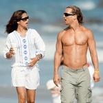 Z brazilsko manekenko Camilo Alves, ki jo je spoznal leta 2006, se je poročil 9. junija 2012.   (foto: Profimedia)