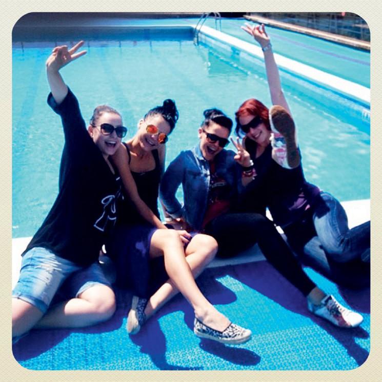 1. Imele smo pravo zabavo ob bazenu.   (foto: Cosmo)
