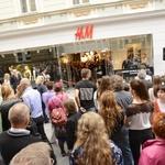 Na Čopovi v Ljubljani vrata odprla prenovljena H&M trgovina (foto: Sašo Radej)