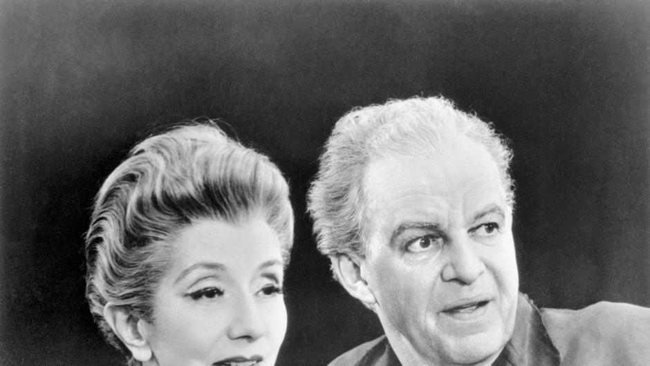 Pred upokojitvijo sta v gledališču nazadnje skupaj zaigrala leta 1958, in sicer v predstavi z naslovom The Visit. (foto: Getty Images)