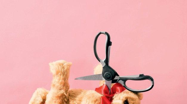 Pusti škarje, njegovega medvedka raje nesi na Rdeči križ! (foto: David Brandon Geeting)