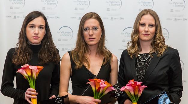 To so prejemnice štipendij programa Za ženske v znanosti 2015 (foto: Jani Ugrin)