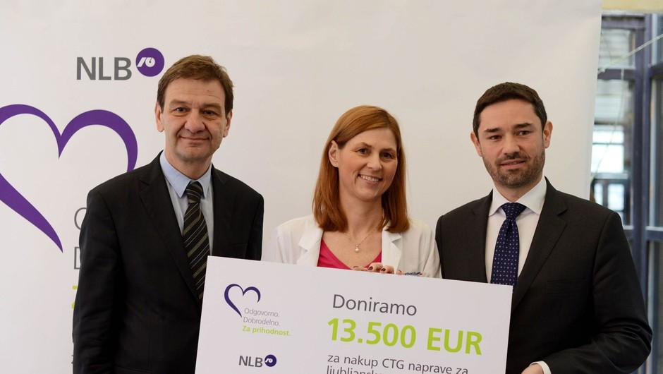 NLB Porodnišnici Ljubljana podarila CTG napravo (foto: Mojfokus.si)