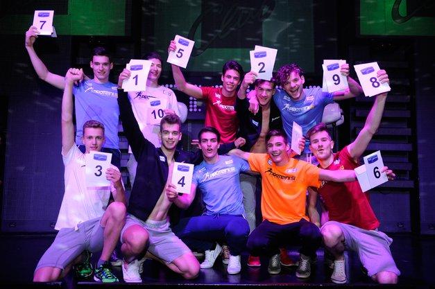 Presrečni finalisti za mistra Slovenije 2015 so izžrebali štartne številke finalnega nastopa.  (foto: Vid Rotar)