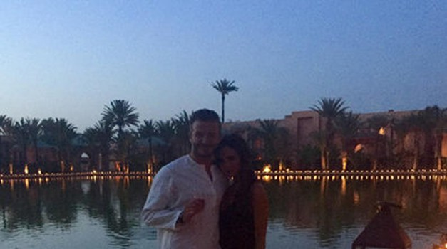 David in Victoria Beckham na večerni zabavi (foto: Instagram)
