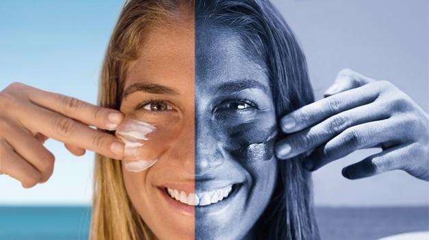 Posebna UV kamera razkriva pravi obraz sonca.  (foto: Beiersdorf)
