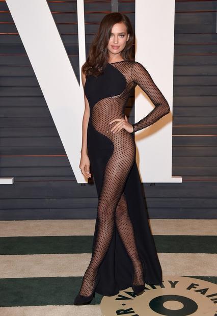 Irina Shayk, 2015, Vanity Fair Oscar Party