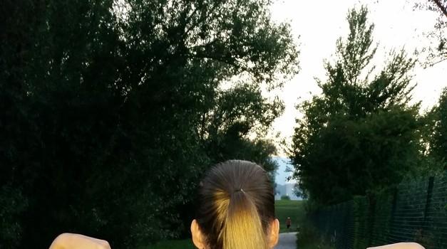 Ojoj ... zgodila se mi je prva tekaška poškodba (foto: Špela Hiršel)