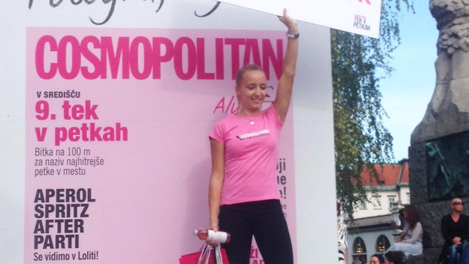 Zmagala je Veronika Podlesnik, ki je prejela glavno nagrado - bon za 500€ šopinga v veleblagovnici Nama. (foto: Cosmopolitan)
