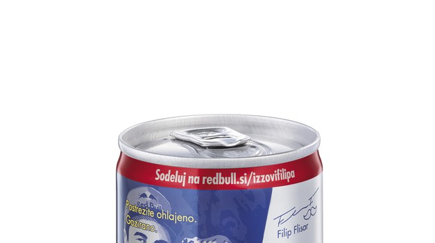 Filip Flisar je dobil svojo lastno pločevinko Red Bull! (foto: Red Bull)