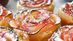 Prazničen recept: Jabolčne listnate vrtnice (VIDEO)