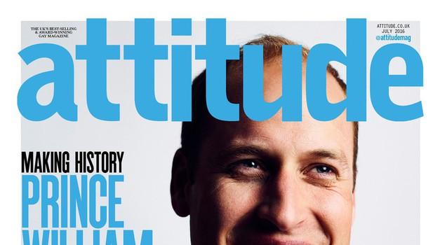 Zgodovinsko: Princ William na najnovejši naslovnici gejevske revije (foto: Profimedia)