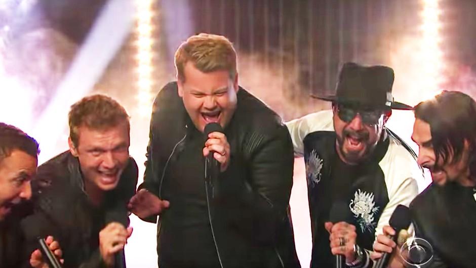 VIDEO: Kako zabavno! James Corden je nastopil s skupino Backstreet Boys (foto: You Tube PrtSc)