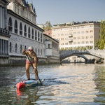 Čudovit in poučen VIDEO: Poglej, kako je suparka Manca Notar preveslala Ljubljanico (foto: Samo Vidic)