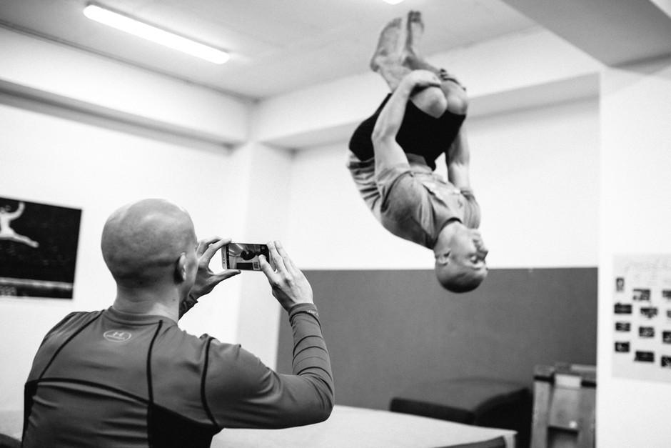 Postavna akrobata Filip in Blaž sta si zaželela novega (foto: Nejc Puš)