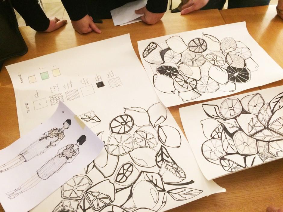 Študenti NTF in idrijske klekljarice z novo vizijo idrijske čipke (foto: NTF)