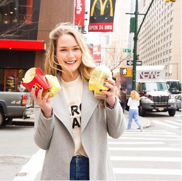 """""""5 dni zaporedoma sem jedla samo hrano iz McDonald's-a in zgodilo se je tole..."""" (foto: PrtSc Instagram_danielletullo)"""