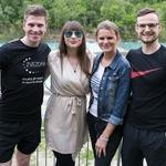Organizatorja projekta Mister Slovenije Erik Ferfolja in Nina Uršič ter direktorica podjetja Zvezdar Nataša Horvat in Parov Anzelc. (foto: Katja Kodba)