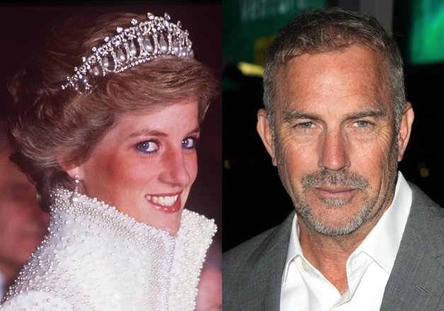 Na dan prišle podrobnosti o nenavadni vezi med princeso Diano in igralcem Kevinom Costnerjem (foto: Profimedia)
