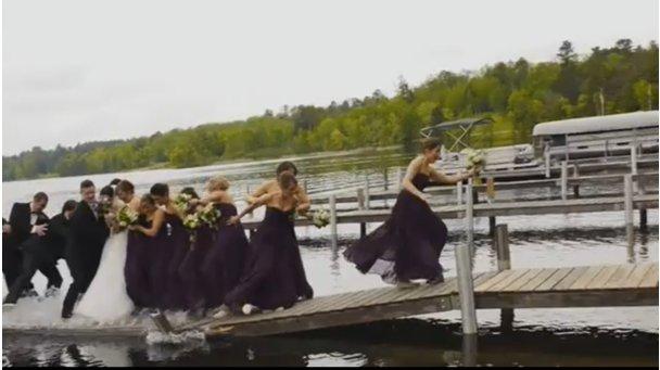 VIDEO: Ko poročno slavje ne gre po načrtih (foto: Prtscr/Youtube)