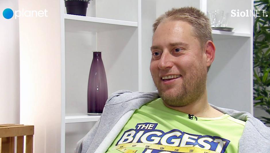 """Henrik Lütz (The Biggest Loser Slovenija): """"Edina možnost je bila, da se zanjo žrtvujem, četudi si morda tega ne zasluži"""" (foto: PrtSc Planet TV)"""