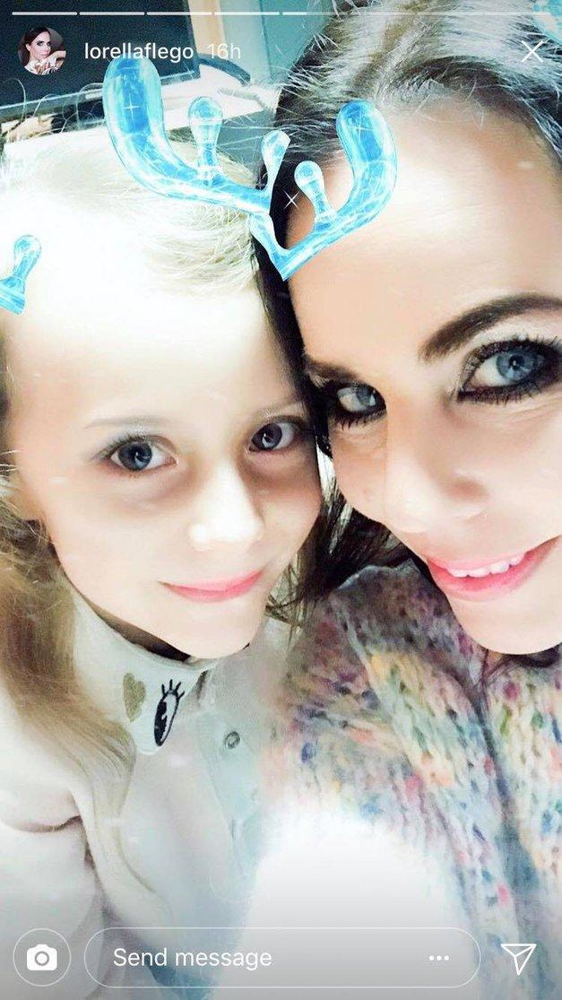 Lorella Flego je PRVIČ pokazala obraz svoje hčerkice! Poglej, kako je ljubka (foto: Instagram Lorella Flego)