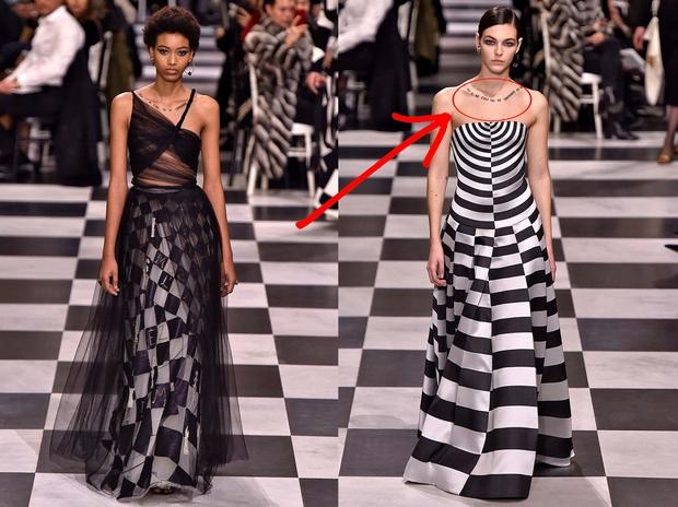 Poglej, s kakšnimi ogrlicami je Dior kombiniral TO svečano obleko!