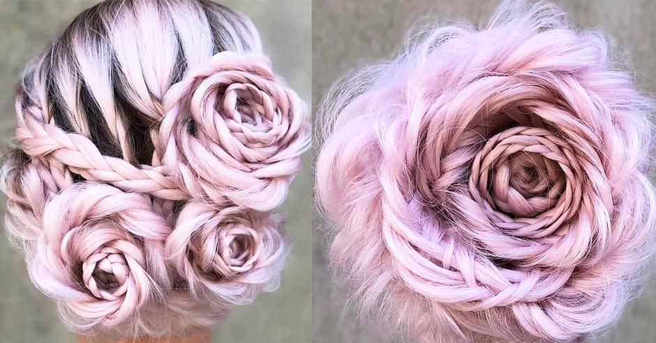 Našle smo način, kako si sama narediš kitke v obliki vrtnice! (foto: Instagram.com / @braidedandblonde)