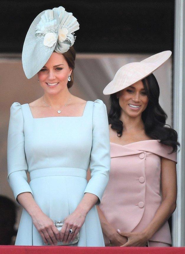 TO je razlog, zakaj je Meghan Markle na kraljičnem rojstnem dnevu morala stati za Kate Middleton (foto: profimedia)
