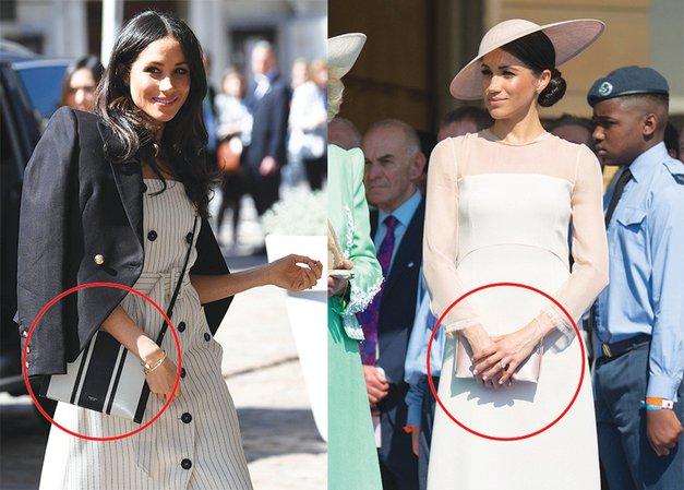 Razlog, zakaj je Meghan Markle 'poštarsko torbo' zamenjala za 'cluch' torbico (foto: Profimedia)
