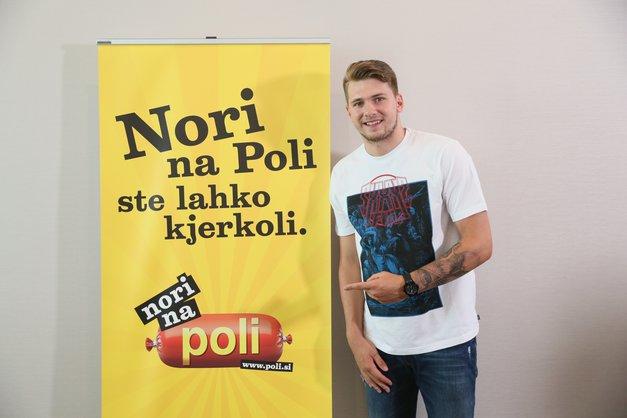Luka Dončić je 'nor' na salamo Poli (foto: Promocijsko gradivo)