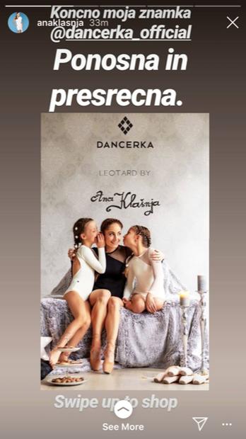 ... oblikovalske vode. Predstavila je svoj nov projekt 'Dancerka', v okviru katerega je ...